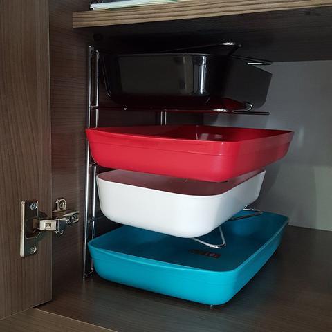 Imagem de Organizador de Armario Aramados para Cozinha Porta Formas