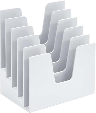 Imagem de Organizador de Escritorio Classificador de Papeis Branco