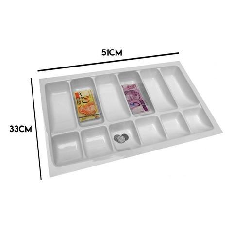 Imagem de Organizador Divisor Porta Notas Moedas Dinheiro Cédulas 12151 51x33cm Magnum Industrial