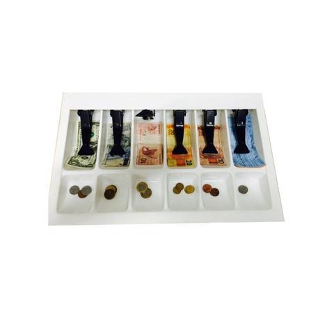 Imagem de Organizador Divisor Porta Notas Moedas Dinheiro Cédulas Prendedor 51x33cm Magnum Industrial