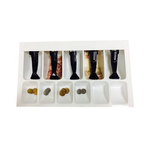 Imagem de Organizador Divisor Porta Notas Moedas Dinheiro Cédulas Prendedor Preto 44x26cm Magnum Industrial