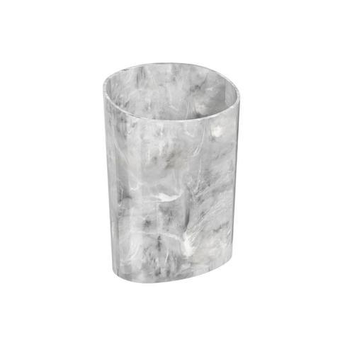 Imagem de Organizador Glass 11,7 x 8,1 x 16,2 cm Mármore Branco - Coza