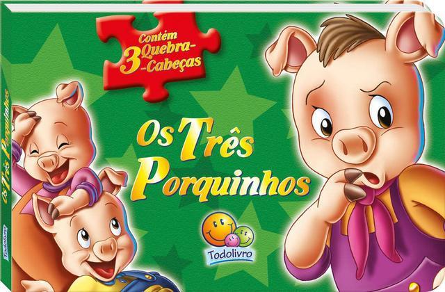 Imagem de Os Três Porquinhos: Col. Contos clássicos em quebra-cabeças