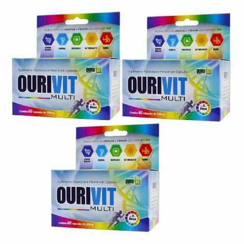 Imagem de Ourivit Multi Az oferta 3x60 Cápsulas igual lavitan Homem
