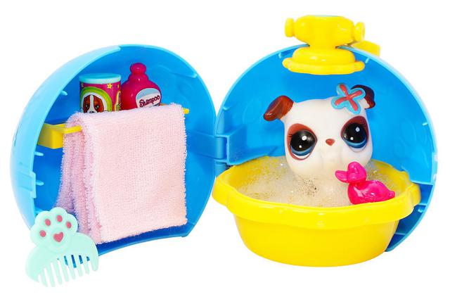 Imagem de Ovo de pascoa infantil mini boneca animais petzies surpresa