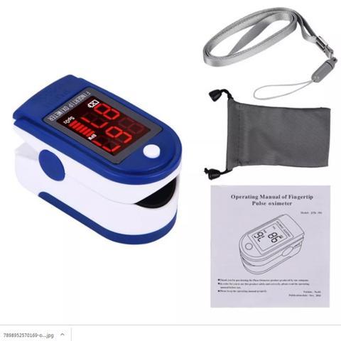Imagem de Oxímetro e Termômetro Digital Medição Oxigênio Febre Ouvido