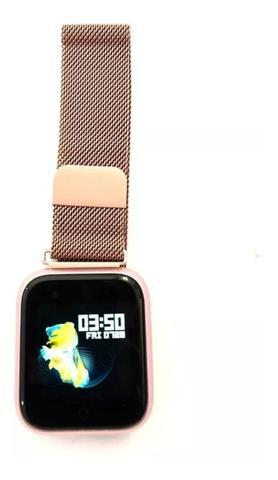 Imagem de P70 relógio inteligente à prova d 'água pressão arterial monitor de freqüência cardíaca sono