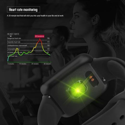 Imagem de P70 relógio inteligente medição pressão arterial monitor freqüência cardíaca pulseira fitness