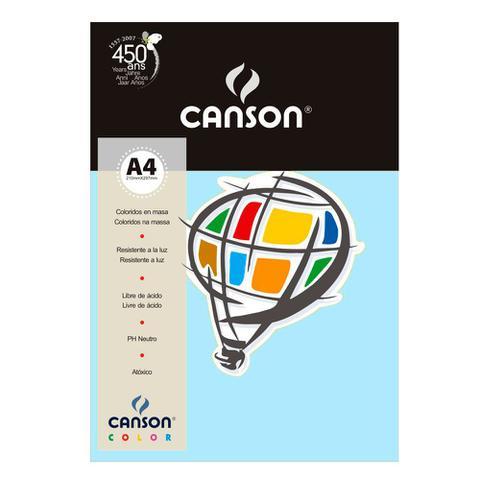 Imagem de Pacote Canson Color Azul Claro 180g/m² A4 210 x 297 mm com 10 Folhas - 66661199