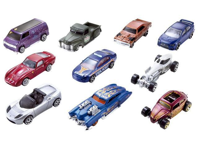 Imagem de Pacote de 10 Carros Hot Weels Mattel
