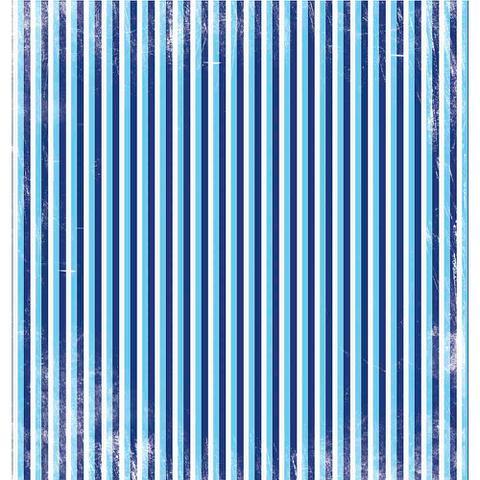 Imagem de Página para Scrapbook Dupla Face Litoarte 30,5 x 30,5 cm - Modelo SD-022 Azul com Ancoras Brancas