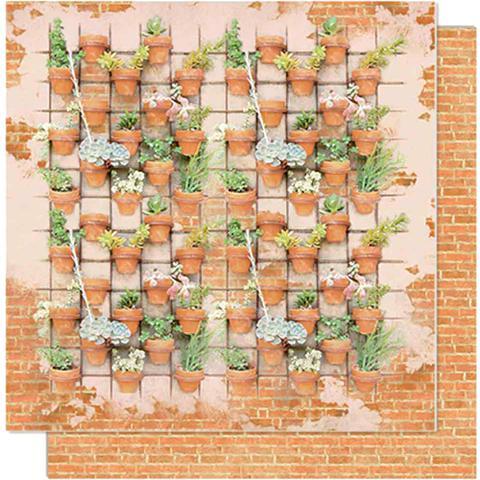 Imagem de Página para Scrapbook Dupla Face Litoarte 30,5 x 30,5 cm - Modelo SD-609 Jardim Vertical