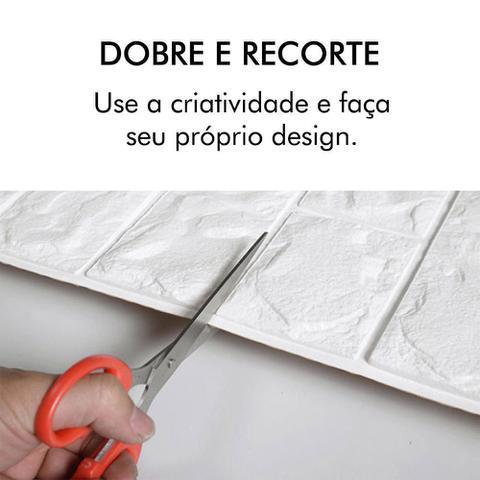 Imagem de Painel Adesivo 3D Revestimento Tijolo Branc DIY Papel Parede
