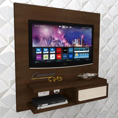 Imagem de Painel de TV com Bancada Suspenso p/ TV C/ gvt espelhada - PNTV01