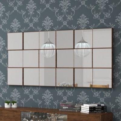 Imagem de Painel Decorativo Quadriculado Espelhado 150x75cm TB88 Dalla Costa