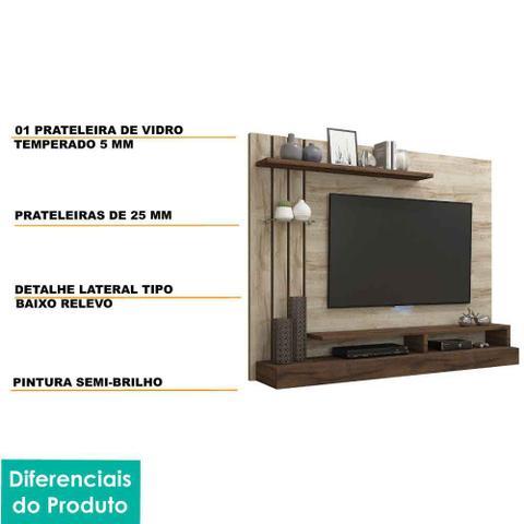 Imagem de Painel para Tv 47 Polegadas Valencia Permobili Rústico/Café