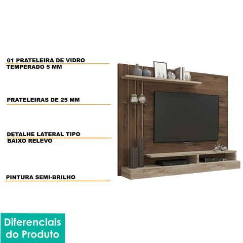 Imagem de Painel para Tv 50 Polegadas Valencia Permobili Café/Rústico