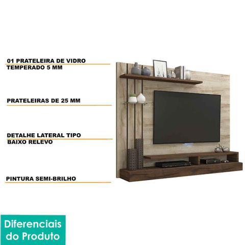Imagem de Painel para Tv 50 Polegadas Valencia Permobili Rústico/Café