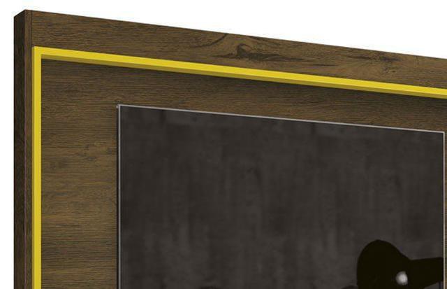 Imagem de Painel Para TV Arena Nogal Rústico com Amarelo -EDN Móveis