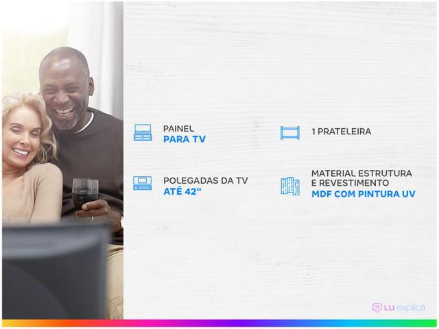 """Imagem de Painel para TV até 42"""" 1 Prateleira Artely Flash"""
