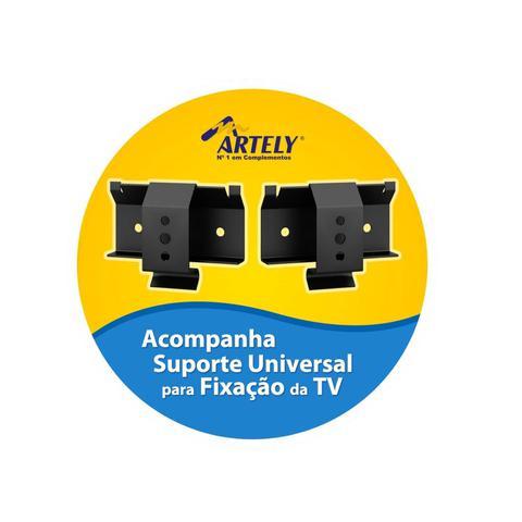 Imagem de Painel para TV até 42 Polegadas com Nicho Flash Artely Amêndoa/Preto