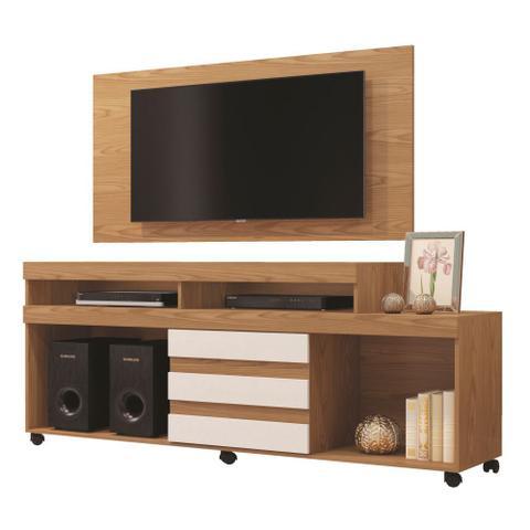 Imagem de Painel para TV até 43 Polegadas Wood com Rack Triunfo para tv até 50 Polegadas Mavaular Damasco Cestaplus
