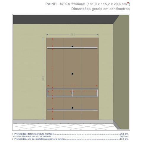 Imagem de Painel Para TV até 47 Polegadas Vega Madeira Rústica 3D - Bechara