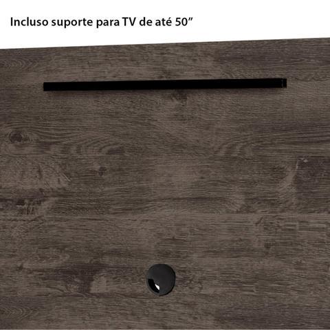 Imagem de Painel para TV até 50 Polegadas com Nicho Luna Siena Móveis Malbec