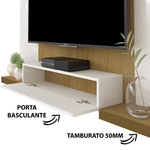 Imagem de Painel Para Tv Até 50 Polegadas Cronos Off White/freijó - Artely