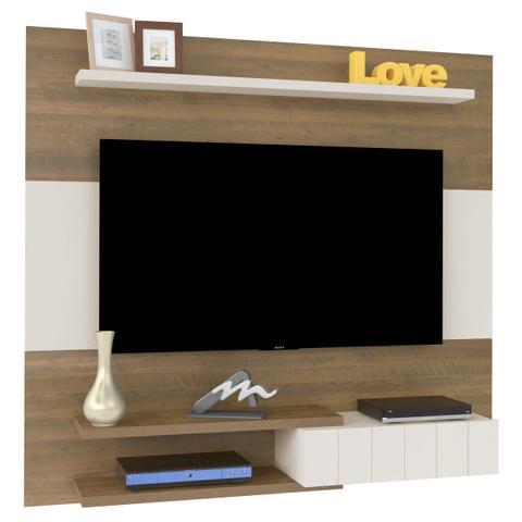Imagem de Painel Para Tv Até 50 Polegadas Monza Pinho/off White - Artely