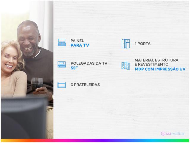 """Imagem de Painel para TV até 55"""" 3 Prateleiras Colibri"""