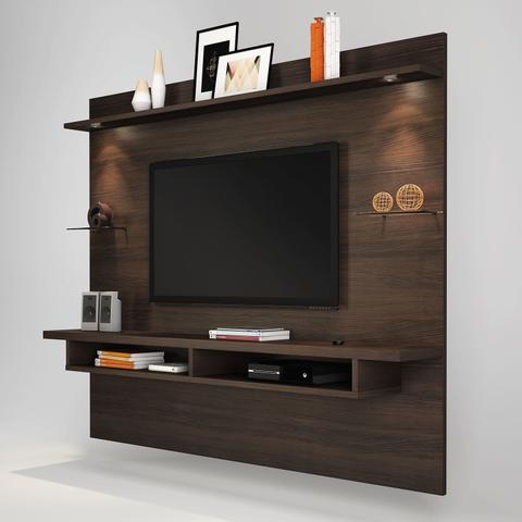 Imagem de Painel para TV até 60 Polegadas 4 Prateleiras Veneza Siena Móveis Chocolate Wood