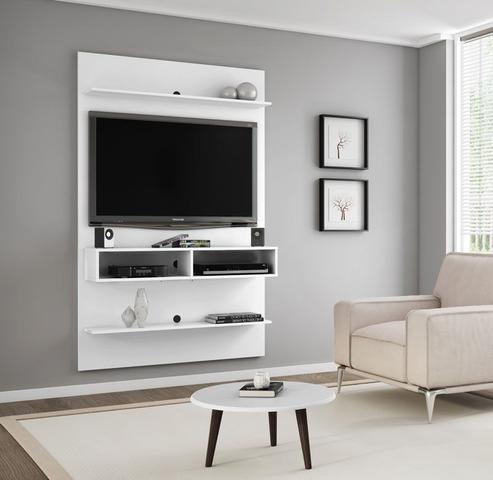 Imagem de Painel para TV Branco 47 polegadas Vega - Móveis Bechara