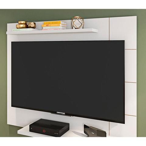 Imagem de Painel para TV Cross Branco Brilho - Caemmun