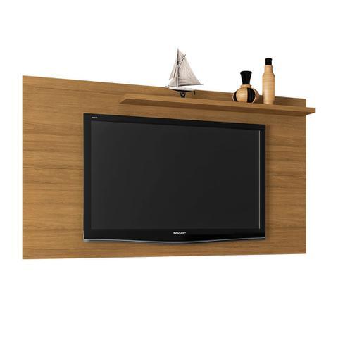 Imagem de Painel Para Tv Sala 160 Cm Até 50 Pol Prateleira Cor Marrom