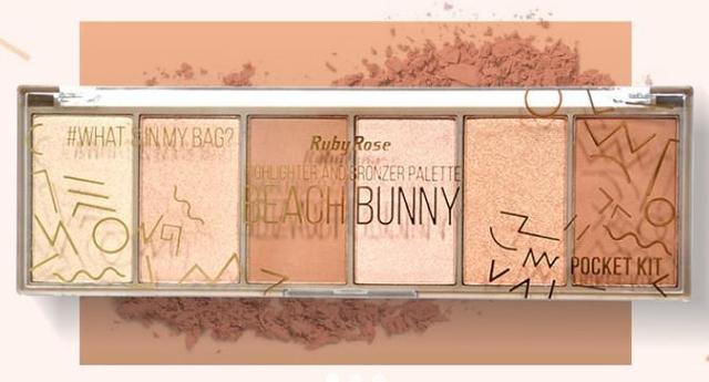 Imagem de Paleta Beach Bunny Iluminador e Bronzer Ruby Rose Hb-7514