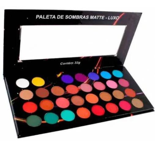 Imagem de Paleta De Sombra Matte Luxo 32 Cores / Ludurana