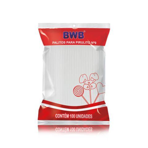 Imagem de Palito Pirulito Plástico Pequeno Branco c/100 - BWB