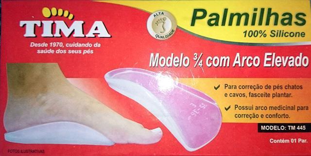 6dc25d6e6 Imagem de Palmilha 3/4 em Silicone com Arco Elevado Pés Chatos e Cavos -