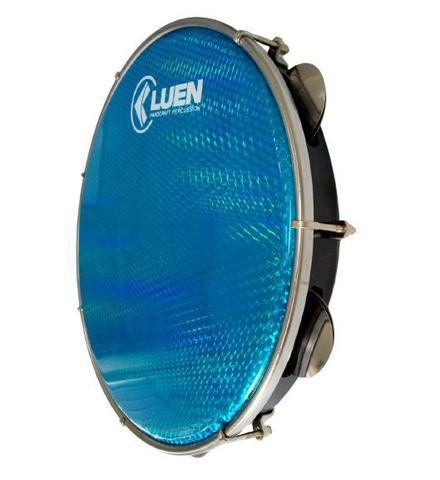 Imagem de Pandeiro 12 Polegadas Abs Pele Holográfica Azul Corpo Preto 40157 PT AZS Luen