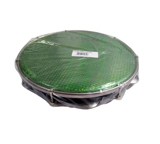 Imagem de Pandeiro 12 Polegadas Abs Pele Holográfica Verde Corpo Preto 40157 PT VDS Luen