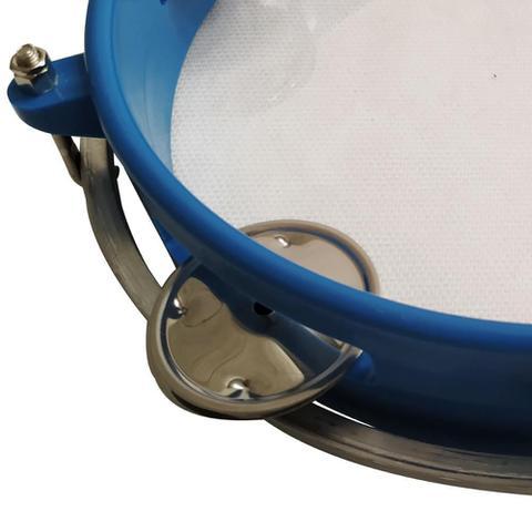 Imagem de Pandeiro ABS Azul Junior Pele Cristal 8