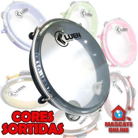 Imagem de Pandeiro Infantil 8 pol Cores Sortidas Luen Percussão Instrumento Musical Junior 40084S