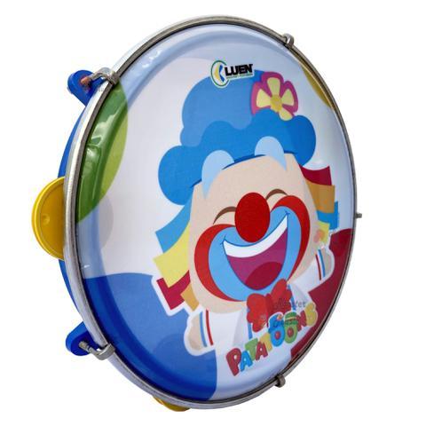 Imagem de Pandeiro Infantil Patati Patata 8 Polegadas da Luen, Pele Personalizada, corpo e platinela em Abs.