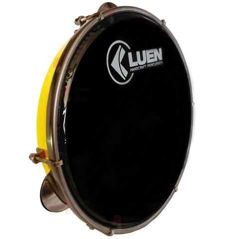 Imagem de Pandeiro Luen 10 Pele Preta Corpo em Abs, com chave de afinação. Pandeiro para samba e outros.