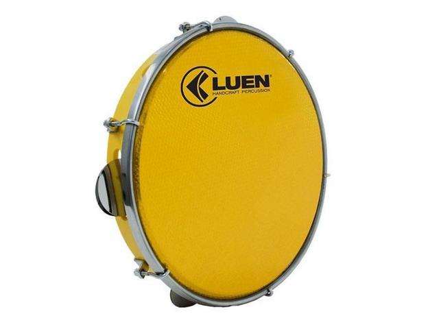 Imagem de Pandeiro Luen 12 Polegadas Pele Holográfica Amarelo