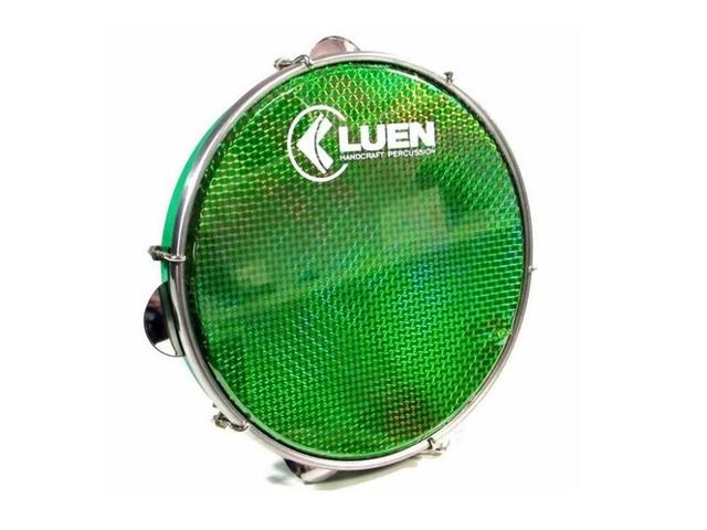 Imagem de Pandeiro Luen 12 Polegadas Pele Holográfica Verde