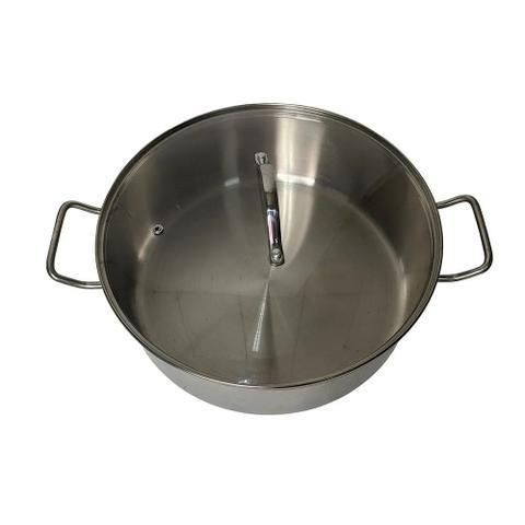 Imagem de Panela Cozimento a Vapor peixes legumes Espagueteira aço inox 7 litros tampa de vidro