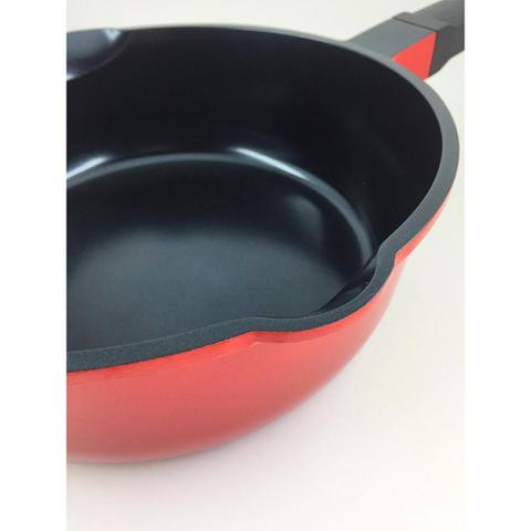 Imagem de Panela de Cerâmica Multifuncional Roichen 26cm 4,1L Vermelha RNC-26D/R