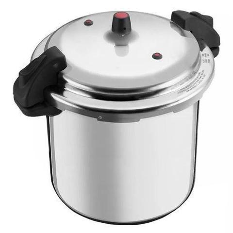 Imagem de Panela de Pressão 20 litros Polida Fechamento Externo Alumínio Nacional